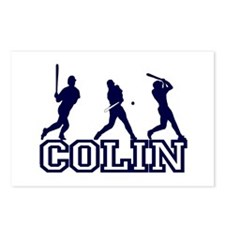 Baseball Colin Personalized Postcards (Package of