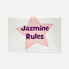 Jazmine Rules Rectangle Magnet