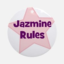 Jazmine Rules Ornament (Round)