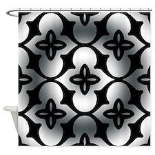 Lattice Illusion Round Shower Curtain