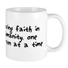 Losing faith in humanity Mug
