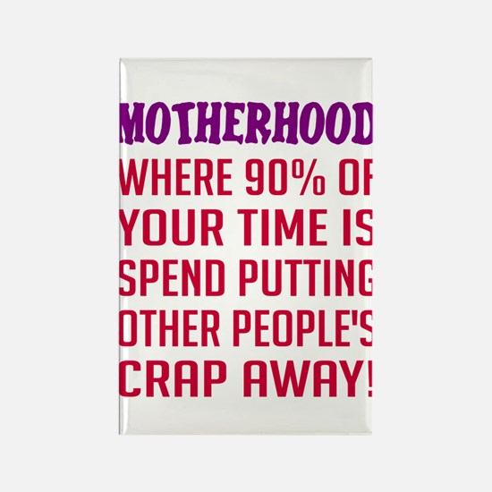 Motherhood put away crap Rectangle Magnet
