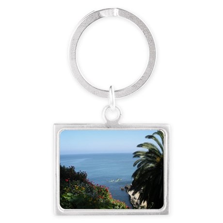 La Jolla CA, ocean view Keychains