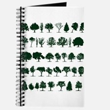 Tree Silhouettes Green 1 Journal