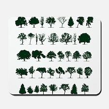 Tree Silhouettes Green 1 Mousepad