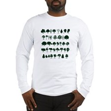 Tree Silhouettes Green 1 Long Sleeve T-Shirt