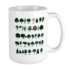 Tree Silhouettes Green 1 Mug