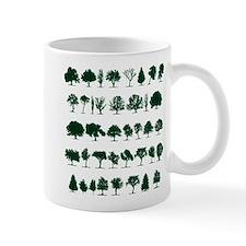 Tree Silhouettes Green 1 Small Mug