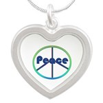 Blue / Green Peace Sign Necklaces