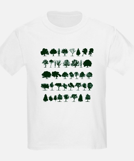 Tree Silhouettes Green 1 T-Shirt