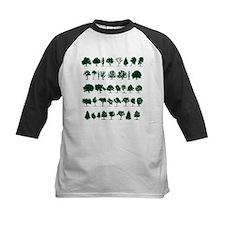 Tree Silhouettes Green 1 Baseball Jersey