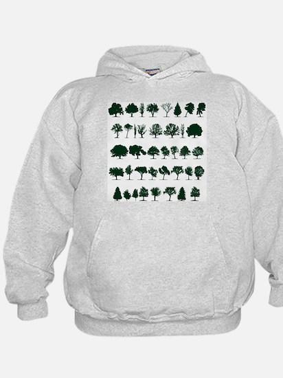 Tree Silhouettes Green 1 Hoody