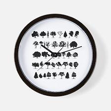 treesmisc Wall Clock