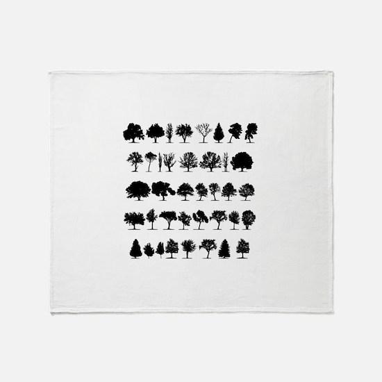 treesmisc Throw Blanket