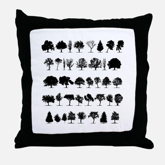 treesmisc Throw Pillow