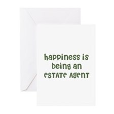 Happiness is being an ESTATE  Greeting Cards (Pack
