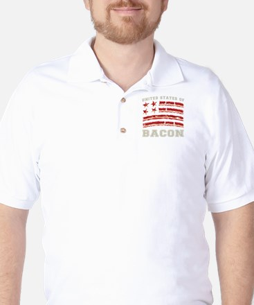 United States of Bacon Golf Shirt