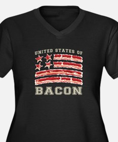 United States of Bacon Plus Size T-Shirt