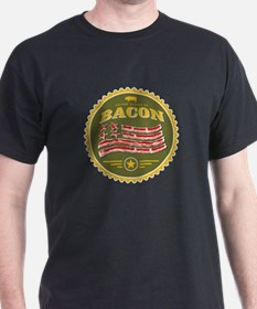 United States of Bacon Seal (olive) T-Shirt
