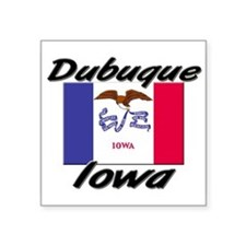 Dubuque Iowa Rectangle Sticker