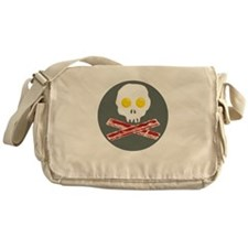 Bacon and Eggs Skull and Crossbones Messenger Bag