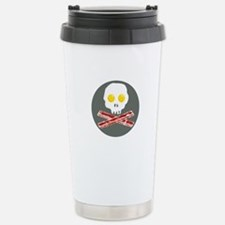 Bacon and Eggs Skull and Crossbones Travel Mug