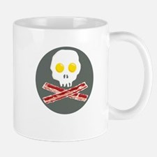 Bacon and Eggs Skull and Crossbones Mug
