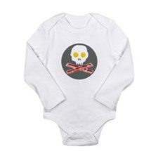 Bacon and Eggs Skull and Crossbones Body Suit
