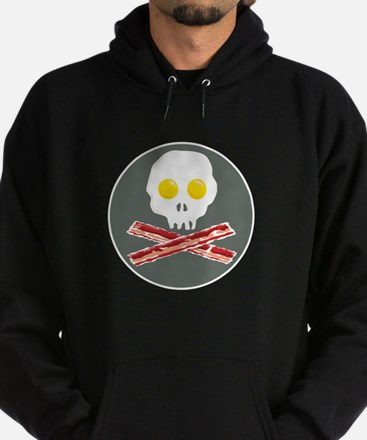 Bacon and Eggs Skull and Crossbones Hoodie