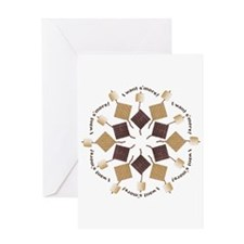 S'mores Snowflake! Greeting Card