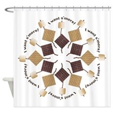 S'mores Snowflake! Shower Curtain