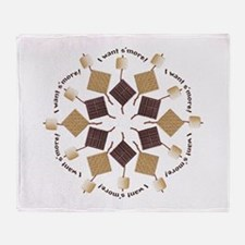 S'mores Snowflake! Throw Blanket