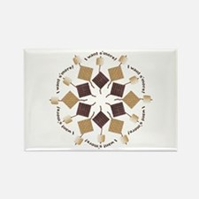 S'mores Snowflake! Rectangle Magnet