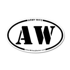 Army Wife (Oval) Wall Decal