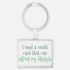Affordable Credit Card Landscape Keychain