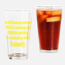 Restraining Order Drinking Glass