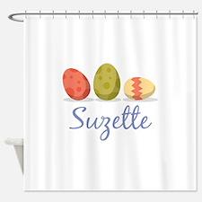 Easter Egg Suzette Shower Curtain