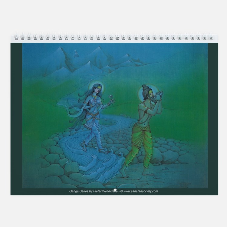 Life of Ganga Calendar (13 paintings)