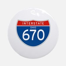 Interstate 670 - OH Ornament (Round)