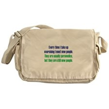 Benefits of Exercise Messenger Bag