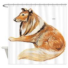 Pet Dog Shower Curtain