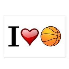 I heart basketball Postcards (Package of 8)