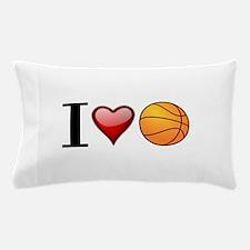 I heart basketball Pillow Case