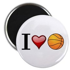 "I heart basketball 2.25"" Magnet (100 pack)"
