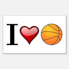 I heart basketball Decal