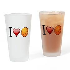 I heart basketball Drinking Glass