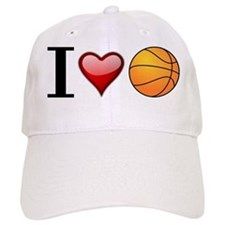I heart basketball Baseball Baseball Cap