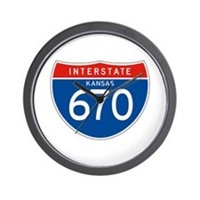 Interstate 670 - KS Wall Clock