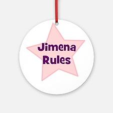Jimena Rules Ornament (Round)