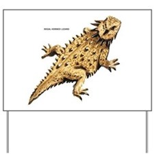 Regal Horned Lizard Yard Sign